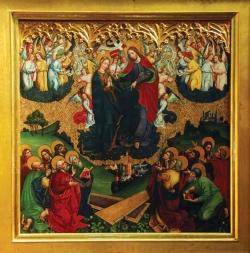obraz Wniebowzięcia Najświętszej Maryi Panny w prezbiterium